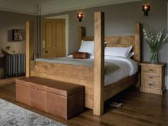 four poster wooden bed - Google Search