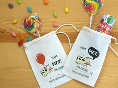 Funny Cow Party Favor Bags for Barnyard Birthday Party and Baby Shower, Farm Animal First Birthday Party, Thank Moo for Coming