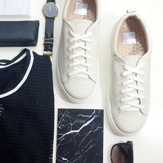 Perforated Leather Sneakers Size 8.5, brand new in box. 12181501 Dolce Vita Shoes Sneakers