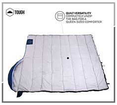 Buy TETON Sports 110 Mammoth Queen Size Sleeping Bag Grey + Compression Sack at online store Best Sleeping Bag, Tent Reviews, Best Tents For Camping, Square Blanket, Hiking Backpack, New Model, Queen Size, Comforters, Outdoors