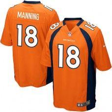 Nike Elite Youth Denver Broncos http://#18 Peyton Manning Team Color Orange NFL Jersey $79.99