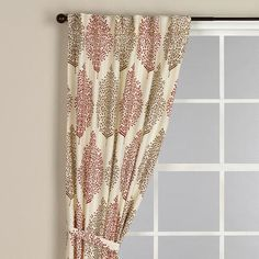 Rust Kashvi Flower Curtain