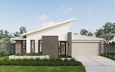 Discover The Charming Metricon Mantra Home My House Plans, Bungalow House Plans, Family House Plans, Modern House Facades, Home Id, Front Yard Design, Contemporary House Plans, Facade House, New Home Designs