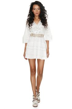 Channel your inner Summer goddess in this Vero Milano white cotton dress. Enjoy the hot Summer days wearing this dreamy crisp white pure cotton dress with an accessorized V-neck cut and trumpet sleeves. White Outfits, Summer Outfits, Summer Goddess, Summer Days, Spring Summer, Trumpet, Cotton Dresses, White Cotton, Dresses Online