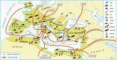 EMÉRITA AUGUSTA Y EL IMPERIO ROMANO Historical Maps, Ancient Rome, Roman Empire, Byzantine, Fantasy, History, Classic, Google, Wall