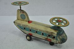 Wind Up Rotating Airplane Carousel Clockwork Tin Toy Retro Toys Hobbies Q