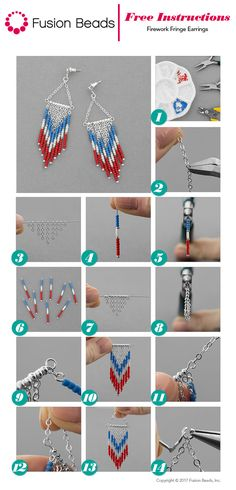 Create the perfect pair of 4th of July earrings this year with our fun new Firework Fringe design!