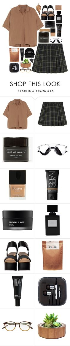"""""""where we're from"""" by akp123 ❤ liked on Polyvore featuring Donna Karan, Land of Women, Butter London, NARS Cosmetics, Koh Gen Do, Manolo Blahnik, Paul Frank, Make, Garrett Leight and Dot & Bo"""