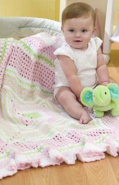 Ruffled Granny Baby Blanket~ FREE crochet pattern