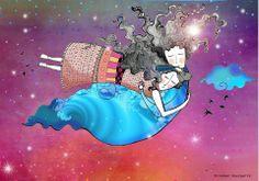""""""" La fe es el fondo marino mas profundo y apacible, y permanece tranquilo por más altas que sean las olas en la superficie"""" L. Wittgenstein. Illustrations Posters, Illustrator, Illustration Art, Letters, Pictures, Brand New Day, Clouds, Get Well Soon, Creativity"""