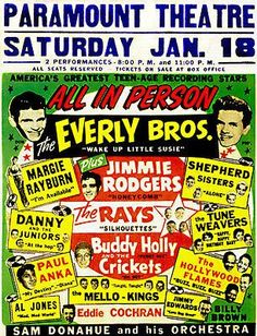 Image result for paramount theater january 18 alan freed show poster