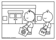 Frokkie en Lola lopen naar school Frokkie en Lola wonen dichtbij school. Ze gaan er elke dag lopend naar toe. Hoe ga jij naar school