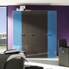 Armoire bleu, blanc et gris moderne CLOVIS | autres | Pinterest ...