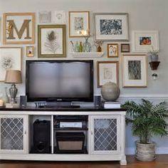 Arranging a Gallery Wall Around a TV | Art Arrangements