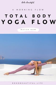 A Total Body Yoga Flow for everyone to awaken the body in the morning and increase your flow of energy. This total body yoga flow will strengthen your core. Yoga Flow Sequence, Yoga Sequences, Yin Yoga, Ashtanga Yoga, Vinyasa Yoga, Total Body, Boho Beautiful, Beautiful Life, Yoga Fitness