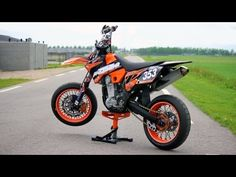 KTM EXC525 Supermoto with lots of mods!! (Engine Sound Only!) - YouTube