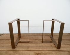 28 Flat Steel-B Table Legs28 Base Width Set2 by Balasagun on Etsy