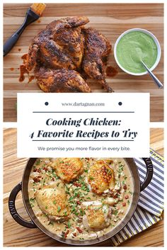 Chicken for dinner again, you say? There are countless ways to prepare the most popular meat in the United States, but somehow it's often plain chicken breast on the plate. Get more adventurous and cook chicken thighs, or whole chicken, including single-serving poussin. We promise you more flavor in every bite. Here are four of our chicken recipes that offer very different styles and flavors. They will certainly break up the monotony of another chicken dinner.