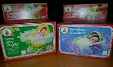 Strawberry Shortcake Berry Baby Buggy& Berry Baby Bassinet lot New Never Opened