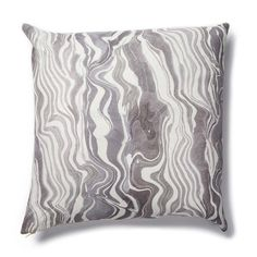 Marbled Stripe Pillow in Gray-lilac – Rebecca Atwood Designs