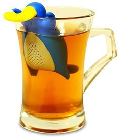 Happy Platypus Loose Leaf Tea Infuser Strainer for Herbal Weight Loss Tea and Mulling Spices Made from Food-Grade Silicone
