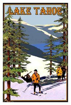 Lake Tahoe Cross Country Skiers