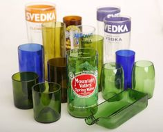 Dallas artist turns old bottles into cool glasses, trays and other items | Dallas Morning News