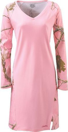 M L XL 2XL Womens Camo Gown Sleep Night Shirt Pajama Nightgown Pink Realtree AP picclick.com