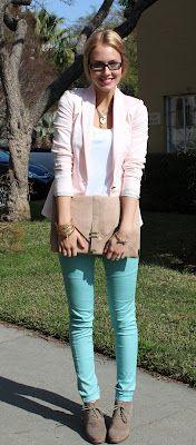 I'm lovin colored jeans