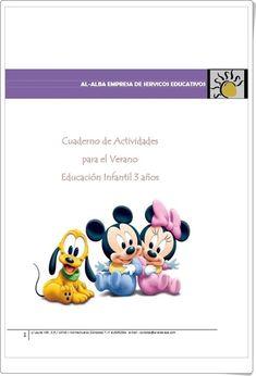 Muy buen cuaderno multidisciplinar de Actividades para el Verano, de Al-Alba, para Educación Infantil de 3 años con actividades de grafomotricidad, formas geométricas, lectoescritura, números, puzzles, conceptos básicos y series.