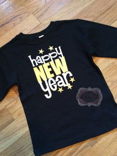 Bling in the New Year New Years Shirt 2016 New Year by SnowSew   New     NYE Personalized Shirt New Years Eve Shirt Black Shirt Toddler Shirt 2016  Shirt NYE 2016