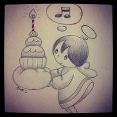 Happy birthday, sketch by clim - http://bulles-de-clim.blogspot.com