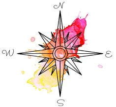 made this a few minutes ago. it would be a really cool tat #watercolor #watercolortattoo #compass