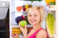 Here's a master list to use when you're stocking up on healthy ingredients. Filling your kitchen with healthy foods makes cooking a pleasure, not a chore. Healthy Fridge, Healthy Food List, Get Healthy, Healthy Life, Healthy Living, Healthy Recipes, Healthy Foods, Vegetarian Recipes, Plant Based Whole Foods