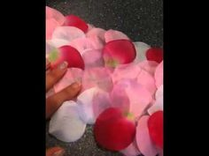 Posh Parties: Pretty Petals: My DIY rose petal aisle runner