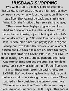Husband Shopping - Funny Story !!!