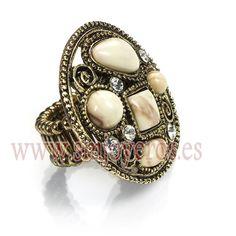 Anillo de metal de Viceroy Fashion con piedras para mujer. Medida adaptable al dedo.  REFERENCIA: 10010A09000  Fabricante: Viceroy