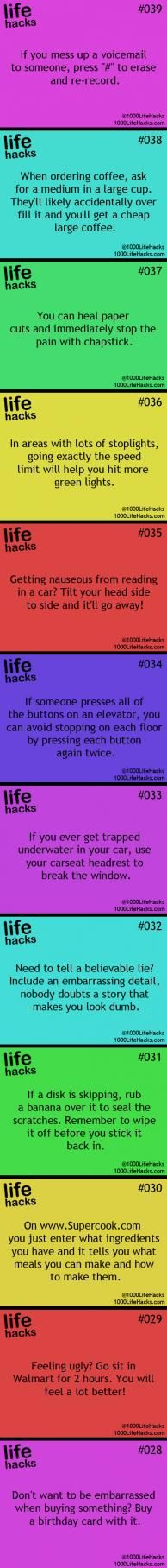 25 Useful Life Hacks   ifunnystuffs