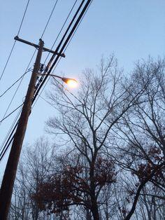 Foggy street light