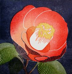Yasuko Aoyama is a Printmaker based in Sendai, Japan Japan Illustration, Japanese Prints, Japanese Art, Japanese Patterns, Japanese Flowers, China Art, Painting Lessons, Botanical Art, Creative Art