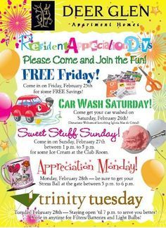 Resident and Tenant Appreciation Events | work | Pinterest ...
