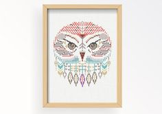 Tutorial OWL WILD/ embroidery Cross Stitch .pdf / Instant Download