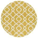 Revolution Yellow 11 ft. 9 in. x 11 ft. 9 in. Round Area Rug