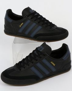 separation shoes 4faa5 7552d Adidas Jeans Leather Trainers Black,Blue,shoes,mk2 Moda Masculina, Adidas  Superstar