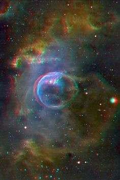 The Bubble nebula    IN 3D!!!!                        You'll need blue and red  glasses to see it in 3D... Awesome!!!!!