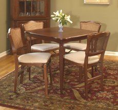 Folding Table With Straight Edges Wooden Card Table (Chairs Sold  Seperately) By Baron