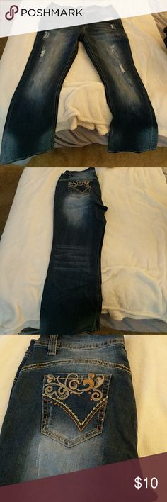 Distressed bootleg jeans Worn once suzanne betro Jeans Boot Cut