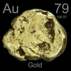 79 Gold -Au- A beautiful shiny, golden, very dense precious metal which is highly resistant to corrosion and very easy to work. Used as a store of economic value.