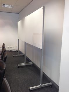 New and available now - the mobile magnetic glass boards on our element stand.
