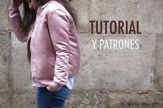 DIY Costura: Como hacer chaqueta bomber para mujer (patrones gratis) Baby Clothes Patterns, Coat Patterns, Sewing Patterns Free, Free Sewing, Diy Couture, Couture Sewing, Sewing Clothes, Diy Clothes, Clothes For Women